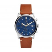 Часовник FOSSIL - The Commuter Chrono FS5401 Brown/Silver