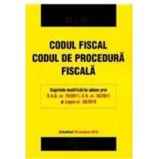 Codul fiscal. Codul de procedura fiscala Act. 18 ianuarie 2018