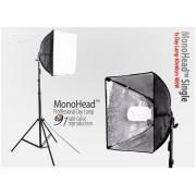 Lampa SOFTBOX światła ciągłego typu Monohead 40x40cm, 85W, 230cm