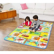 Vruta Polyester Waterproof Double Side Baby Play Crawl Floor Mat for Kids & Kids Infant Crawling Play Mat