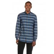 Gant Hemd Twill, Langarm, Button-Down-Kragen, Slim Fit blau