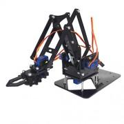 MagiDeal Hot Smart Acrylic Robot DIY 4-Dof Tank Robotics Arm for Arduino 51 Learning Assembly Kits Educational Toy