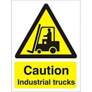 Unbranded Warning Sign Industrial Trucks PVC 15 x 20 cm