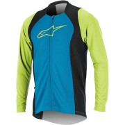 Alpinestars Drop 2 Full Zip Camisa de manga larga de bicicleta Azul/Verde S
