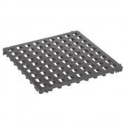 Kunststoff-Bodenrost, Polyethylen 500 x 500 mm, Standard, VE 20 Stk basaltgrau