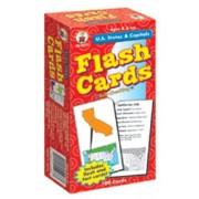 FLASH CARDS US STATES & CAPITALS by CARSON DELLOSA