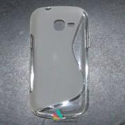 Husa Samsung Galaxy Trend Lite S7390 / Trend Duos S7392 Silicon Gel Tpu S-Line Alba Semitransparenta