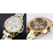 TWO Rosara Combo Watches Golden Silver For Man by 7Star