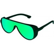 TheWhoop Retro Square Sunglasses(Green)