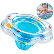 UEOTO Baby Swimming Ring, Inflatable Pool Float with Seat Ideal for Kids Paddling Pool, Swim Ring Skin-Friendly PVC Fits Infant Toddler Training from 6 Months to 36