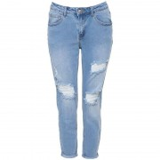 ComeGetFashion Jeans Ripped Light Girlfriend - Jeans