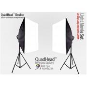 Lampa SOFTBOX światła ciągłego typu Quadhead Doble 50x70cm, 8x85W, 2x 230cm
