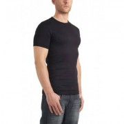 Garage Basic T-Shirt Round Neck Black Semi Bodyfit ( art 0301) - Zwart - Size: 3X-Large