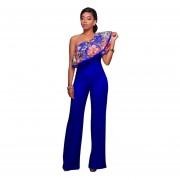 Pantalones Siameses Venico Mujer-Azul