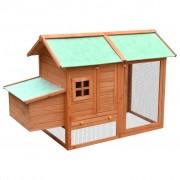vidaXL Къща за пилета, чам и ела масив, 170x81x110 см