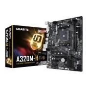 GIGABYTE A320M-H, AM4, AMD A320, 2xDDR4, Max:2667MHz, Max:32GB, 1xPCIE16 3.0, 2xPCIE1, 4xSATA3, 2xUSB, 4xUSB3.1, DVI, HDMI, RAID, 7.1, Gigabit, PS2:2 db, Micro-ATX, 1xM.2 (GA-A320M-H)