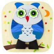 Детски дървен пъзел - Бухалче - Thinkle stars, 331062