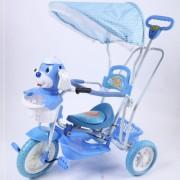 Tricikl za decu - Plava Kuca - tapacirano sedište ( 390390 )