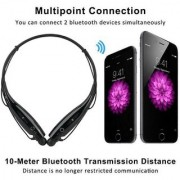 Deals e Unique Bluetooth Headphone Stereo Headset for All Devices Neckband Wireless Headphones With Mic