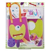 ALEX Toys Kids Sew Silly Handbag Craft Kit with Monster Designs, Assorted Colors