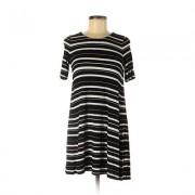 Ann Taylor LOFT Casual Dress - A-Line: Black Print Dresses - Used - Size 2X-Small Petite