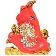Odishabazaar Flower Shaped Ganesh Ganpati Lord Ganesha Idol Statue For Car Dashboard Home Decor Office Gifting