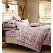 Lenjerie de pat din fibra de bambus-Carouri-BM51