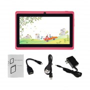 7-pulgadas De Pantalla Táctil HD Niños Tablet PC 512MB +8GB US Plug Estudiantes Tablet Rosa