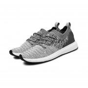 EY Los Hombres De Moda Los Zapatos Con Cordones, Pisos De Malla Transpirable Sólido Deportes-Gris