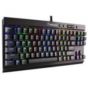 Геймърска механична клавиатура corsair k65 rgb rapidfire, cherry mx speed rgb (us), многоцветна led подсветка, алуминиева рамка, жична, ch-9110014-na