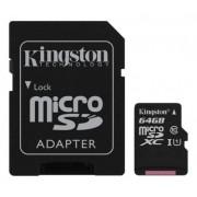 . 64GB class 10 Kingston (MicroSDHC med SDHC adapter) - Minneskort