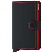 Secrid Porta Carte con Clip linea Matte in Pelle Black e Red con RFID
