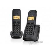 Gigaset A 120 DUO crni dect telefon
