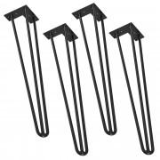 "[en.casa]® Stilske nogare za stol – ""ukosnica"" set (4 komada) - 72 cm - crna"