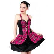 šaty dámské Black Pistol - Punk Mini Dress Tartan Pink - B-5-04-060-18