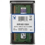 4 GB DDR3/1600 SO-DIMM, KINGSTON KVR16S11S8/4, 1.5V, CL11