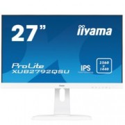"Монитор Iiyama Prolite XUB2792QSU-W1, 27""(68.58 cm) IPS панел, QHD, 5ms, 2000000:1, 350 cd/㎡, HDMI, Display Port, DVI"