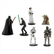 Star Wars Figure Playset Includes Darth Vader, Luke Skywalker, Princess Leia, Yoda, Boba Fett And Stormtrooper