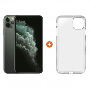 Apple iPhone 11 Pro Max 256 GB Midnight Green + Tech21 Pure Back Cover Transparant