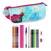 SAFTA Astuccio Portapenne Scuola Frozen 17 Piece Pencil Case Nordic Summer 20 Cm