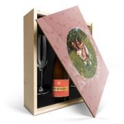 YourSurprise Coffret Champagne avec 2 flûtes - Piper Heidsieck Brut (750 ml) - Couvercle imprimé