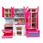 AKSH Dream House 3 Compartments Modern Kitchen Toy Set with Music and Lights