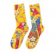 Mr. Gugu & Miss Go Paradise Parrots Unisex Midi Socks SOM1036