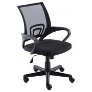 CLP Sedia da Ufficio Genius, nero , nero, altezza seduta