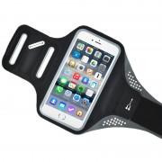 Husa banderola brat / mana pt alergat, sala, bicicleta compatibila cu telefoane cu display pana la 5.5'', Gema, negru