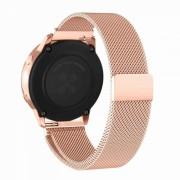 Curea metalica tip plasa cu prindere magnetica universala 20mm pentru Samsung Gear S2 Classic, Watch Active, Watch 42mm, Huawei Watch 2, rose gold