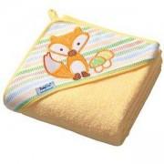 Бебешка хавлия с качулка TERRY - жълта, 142 03 BabyOno, 7930045