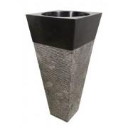 Mosdókagyló természetes kőből - Pedestal IDS 141 Black