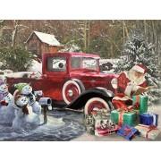 White Mountain Puzzles Santa & Truck Jigsaw Puzzle (1000 Piece)