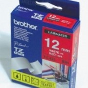 Консуматив Brother TZE-435 Tape White on Red, Laminated, 12mm, 8m